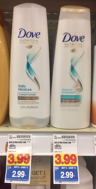 Dove Shampoo or Conditioner $1.49 (reg $3.99)! - Kroger Couponing