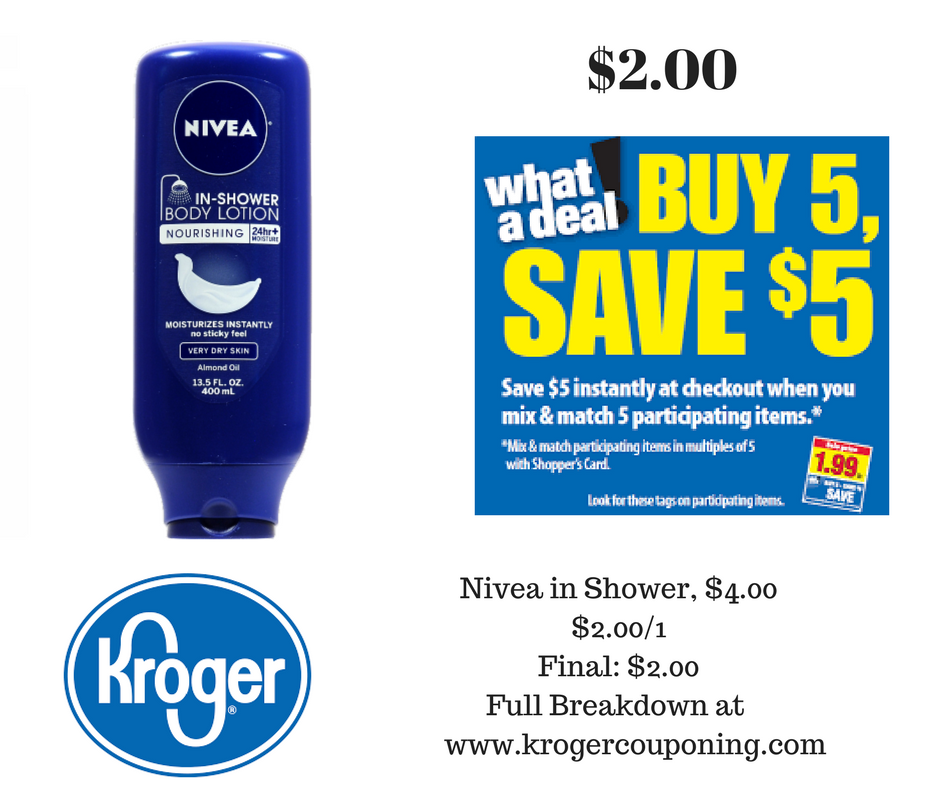 Nivea In Shower Body Lotion just $2.00 - Kroger Couponing
