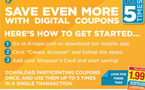 Kroger 5X Digital Coupons Reset!! - Kroger Couponing