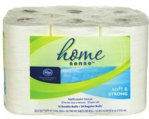 Bathroom Tissue home sense bath tissue $3.99 at kroger - kroger couponing