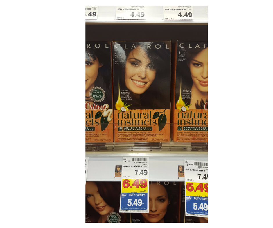 Clarirol Natural Instincts Hair Color As Low As 249 Kroger Couponing
