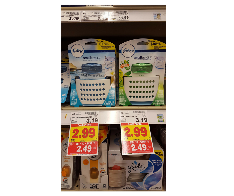 Febreze Small Spaces as low as $1.25 - Kroger Couponing