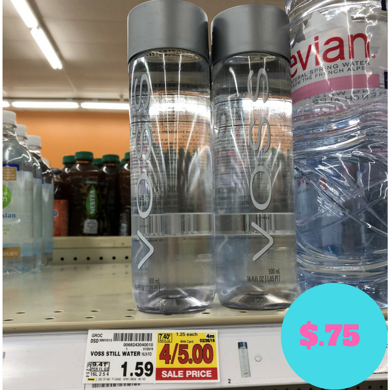 voss water just 75 kroger couponing