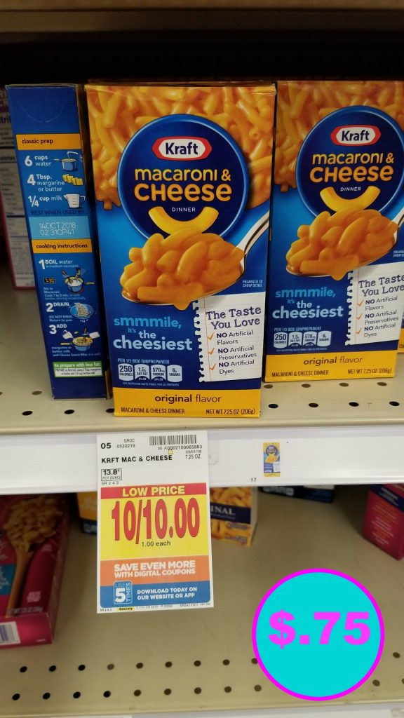 Kraft Mac And Cheese Just 75 Kroger Couponing