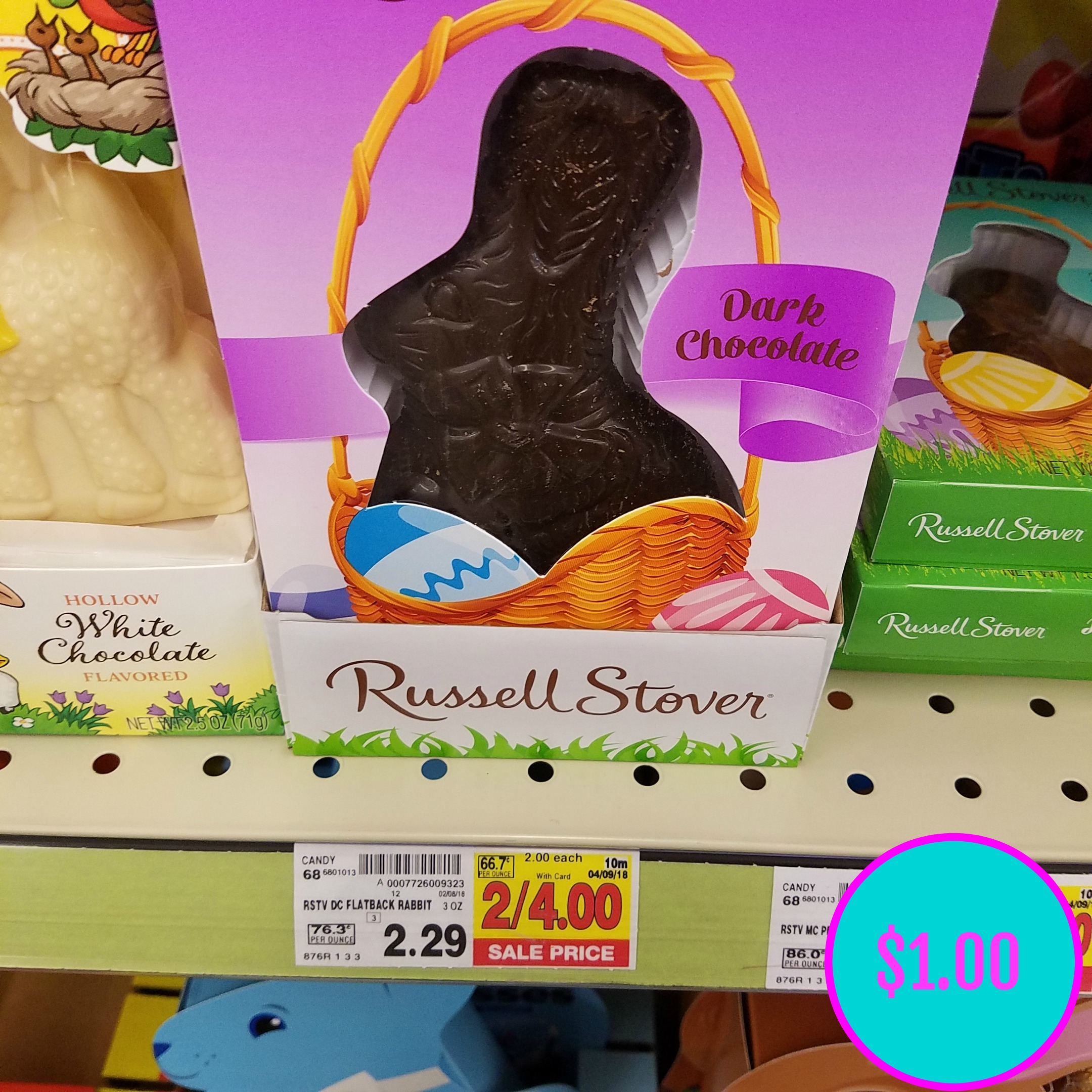russell stover bunnies just $1.00! - kroger couponing