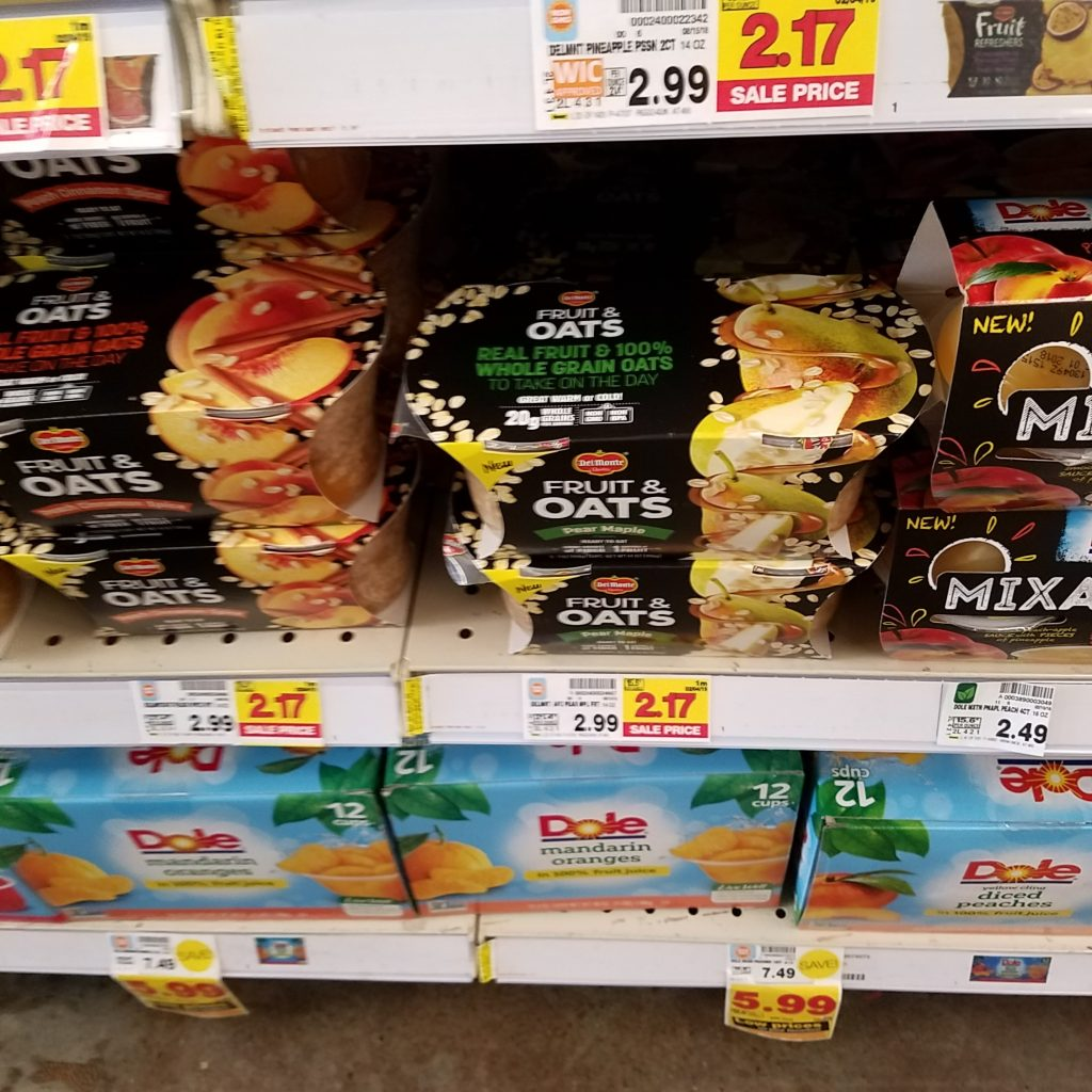 graphic regarding Del Monte Printable Coupons called Del Monte Fruit Oats particularly $.79 - Kroger Couponing