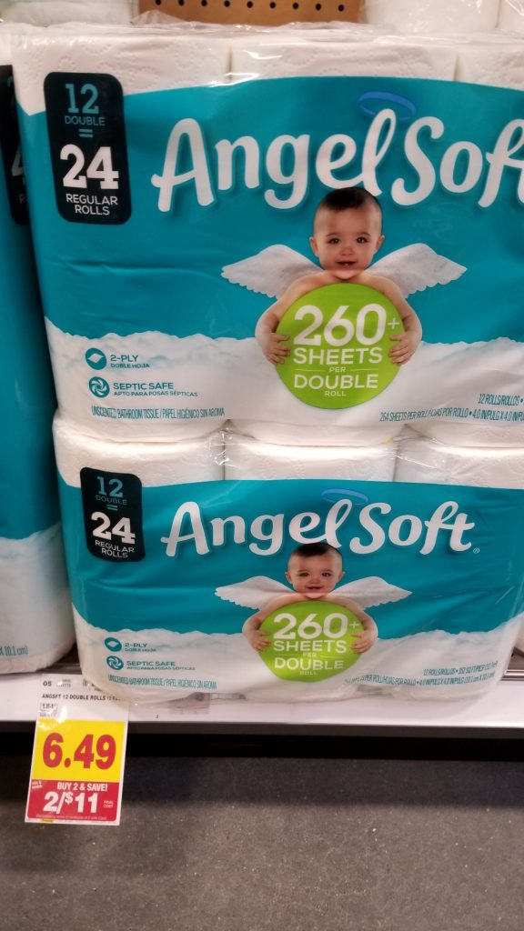 image relating to Angel Soft Printable Coupon named Angel Delicate Toilet Tissue simply $4.50 - Kroger Couponing