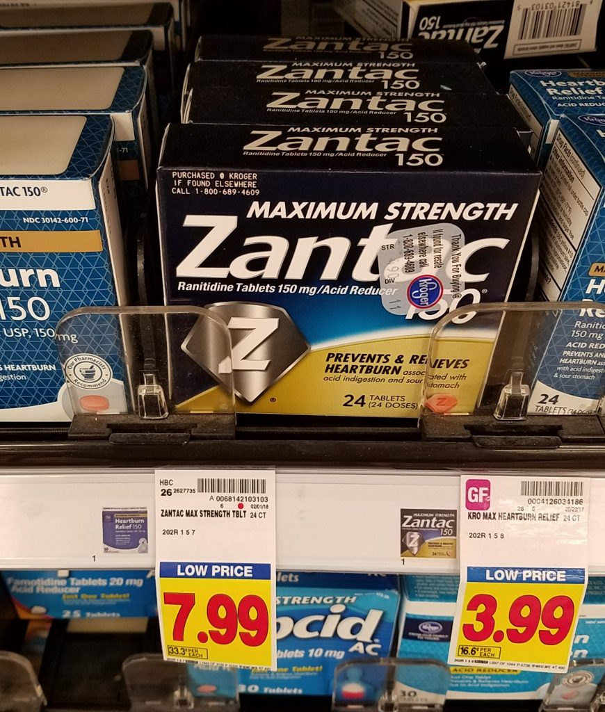 photograph about Zantac Printable Coupon named Zantac as small as $3.99 - Kroger Couponing